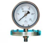 YPF-150B不锈钢膜片压力表(0-25KPa径向型)