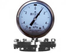 YPF-100B-F不锈钢膜片压力表(-5~5KPa径向型)