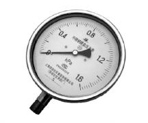 YE-150B不锈钢膜盒压力表(0-1.6KPa径向型)