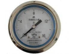 Y-103B-F全不锈钢压力表(0-16MPa轴向型)