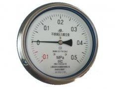 Y-153B-F全不锈钢压力表(-0.1-0.5MPa轴向型)