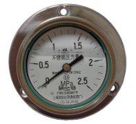 Y-63B-FZ全不锈钢耐振压力表(0-2.5MPa轴向型)