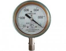 Y-100B-FZ全不锈钢耐振压力表(-0.1-0MPa径向型)