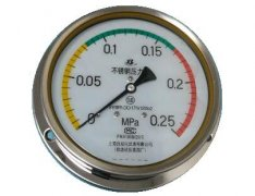 Y-103B-F全不锈钢压力表(0-0.25MPa轴向型)