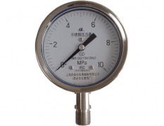 Y-100B-FQ安全型不锈钢压力表(0-10MPa径向型)