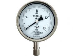 YE-150B不锈钢膜盒压力表(0-16KPa径向型)