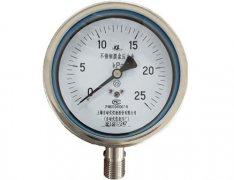 YE-100B不锈钢膜盒压力表(0-25KPa径向型)
