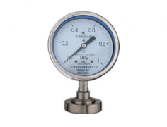 Y-100B-F/Z/MN卫生型螺母式隔膜压力表