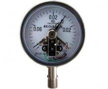 YXC-100B-F磁助式不锈钢电接点压力表(-0.1-0.06MPa