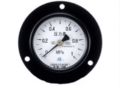 Y-60ZT普通压力表(0-1MPa轴向带边)