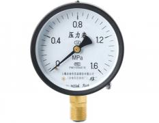Y-100普通压力表(0-1.6MPa径向型)
