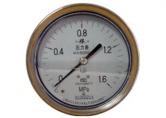 Y-151A-Z半钢耐振压力表(0-1.6MPa轴向型)