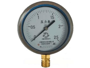 Y-150A半钢压力表(0-2.5MPa径向型)