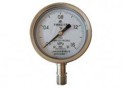 Y-100B-FZ全不锈钢耐振压力表0-1.6MPa径向型