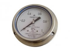 Y-103B-F全不锈钢压力表0-1MPa轴向带边型