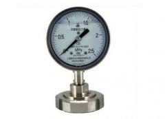 Y-150B-FZ/Z/MN卫生型螺母式隔膜耐振压力表