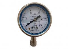 Y-60B-FZ全不锈钢耐振压力表0-25MPa径向型