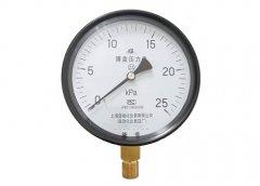 YE-150膜盒压力表0-25KPa径向型