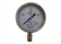 Y-100B-FZ全不锈钢耐振压力表0-0.4MPa径向型