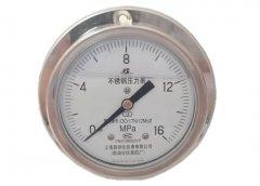 Y-153B-FZ不锈钢耐震压力表0-16MPa轴向带边型