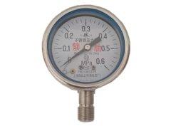 Y-60B-F禁油不锈钢压力表0-0.6MPa径向型