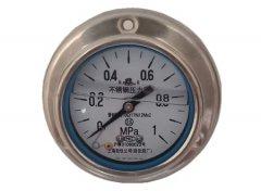 Y-63B-FZ全不锈钢耐震压力表0-1MPa轴向带边型