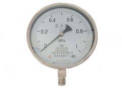 Y-200B-F全不锈钢压力表0-1MPa径向型