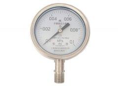 Y-100B-F全不锈钢压力表0-0.1MPa