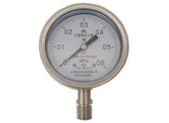 Y-100B-F全不锈钢压力表0-0.6MPa